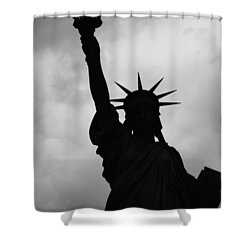 Statue Of Liberty Silhouette Shower Curtain