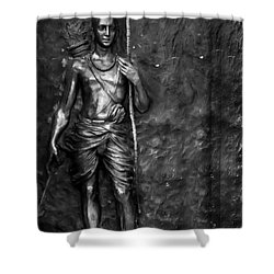 Statue Of Lord Sri Ram Shower Curtain