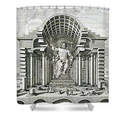 Statue Of Olympian Zeus Shower Curtain by Johann Bernhard Fischer von Erlach