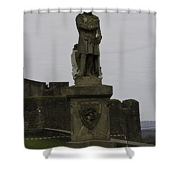 Statue Of Robert The Bruce On The Castle Esplanade At Stirling Castle Shower Curtain