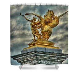 Statue On Pont Alexandre IIi Shower Curtain