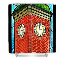 Staunton Virginia Clock Tower Shower Curtain by Jim Harris