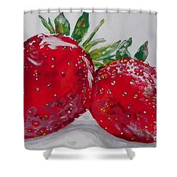 Stawberries Shower Curtain