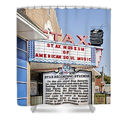Stax Shower Curtain