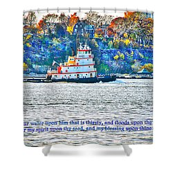 Stay Afloat With Hope Shower Curtain by Terry Wallace