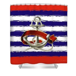 Stay Anchored Shower Curtain