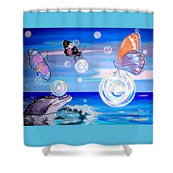 Stay And Play Shower Curtain