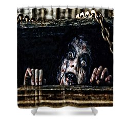 Stay Out Of The Basement Shower Curtain