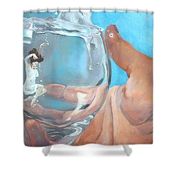 Staying Afloat Shower Curtain