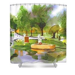 Ste Marie Du Lac In Watercolor II Shower Curtain