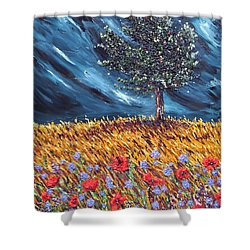 Shower Curtain featuring the painting Steadfast Love by Meaghan Troup