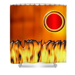 Steady Burn Shower Curtain by Wendy J St Christopher