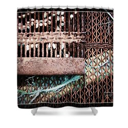 Steal And Stone Shower Curtain