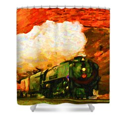 Steam And Sandstone Shower Curtain