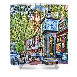 Steam Clock In Vancouver Gastown Shower Curtain
