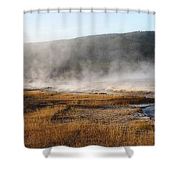 Shower Curtain featuring the photograph Steam Creek by David Andersen