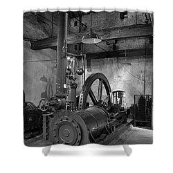 Steam Engine At Locke's Distillery Shower Curtain by RicardMN Photography