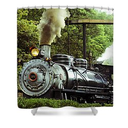 Steam Engine Shower Curtain by Laurie Perry
