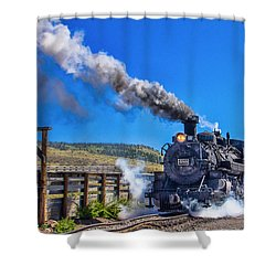 Steam Engine Relic Shower Curtain