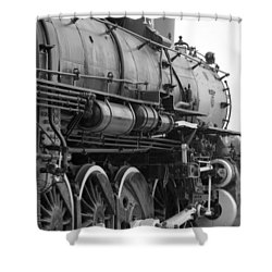 Steam Locomotive 1519 - Bw 02 Shower Curtain by Pamela Critchlow