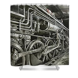 Steam Locomotive 2141 Shower Curtain by Theresa Tahara