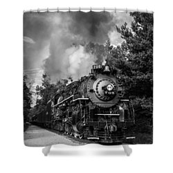 Steam On The Rails Shower Curtain