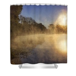 Steam On The Water Shower Curtain by Jason Politte