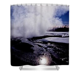 Steam Shower Curtain by Sharon Elliott