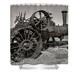 Steam Tractor - Molson Ghost Town Shower Curtain by Daniel Hagerman