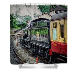 Steam Train 3802 Shower Curtain