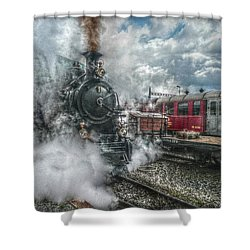 Shower Curtain featuring the photograph Steam Train by Hanny Heim
