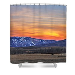 Steamboat Alpenglow Shower Curtain