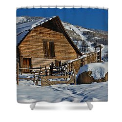 Steamboat Barn Shower Curtain