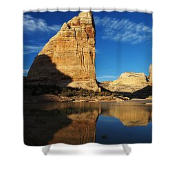 Steamboat Rock In Dinosaur National Monument Shower Curtain by Nadja Rider