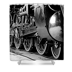 Shower Curtain featuring the photograph Steamer Up 844 Wheels by Bartz Johnson
