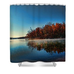 Steaming Reflection Shower Curtain by Rick Friedle