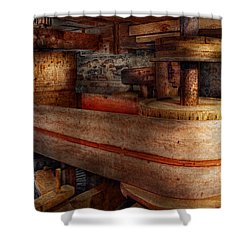 Steampunk - Belts - Old School Is Best Shower Curtain by Mike Savad