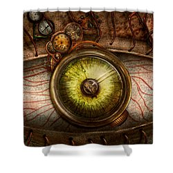 Steampunk - Creepy - Eye On Technology  Shower Curtain by Mike Savad