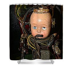 Steampunk - Cyborg Shower Curtain by Paul Ward