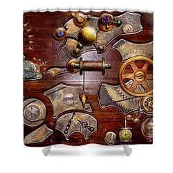 Steampunk - Gears - Reverse Engineering Shower Curtain by Mike Savad
