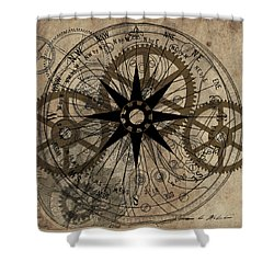 Steampunk Gold Gears II  Shower Curtain