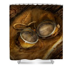 Steampunk - Hey Fly-boy  Shower Curtain by Mike Savad