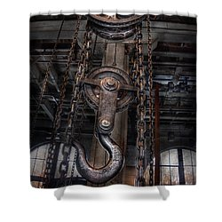 Steampunk - Industrial Strength Shower Curtain by Mike Savad