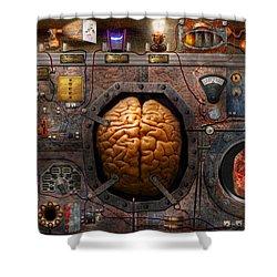 Steampunk - Information Overload Shower Curtain