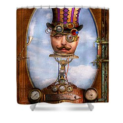 Steampunk - Integrated Shower Curtain by Mike Savad