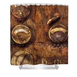 Steampunk - Meters D-66 Shower Curtain by Mike Savad