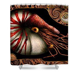 Steampunk - Nautilus - Coming Out Of Your Shell Shower Curtain by Mike Savad