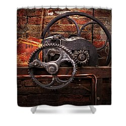 Steampunk - No 10 Shower Curtain by Mike Savad