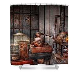 Steampunk - Private Distillery  Shower Curtain by Mike Savad