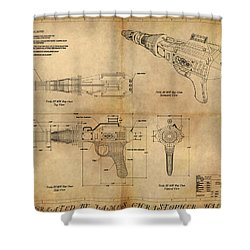 Steampunk Raygun Shower Curtain by James Christopher Hill